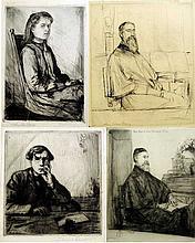 Set of 4 Portraits By Arthur Lewis