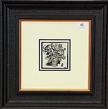 A framed decorative print by Margaret Preston