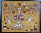 Asmat tribal bark painting