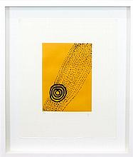 WENTJA NAPALTJARRI  Limited edition hand coloured etching