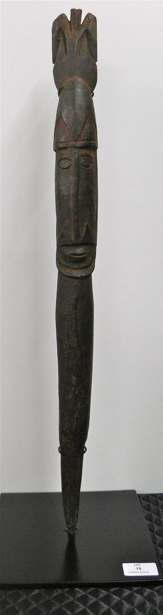 A VINTAGE HARDWOOD YAM MAKER FROM NEW GUINEA