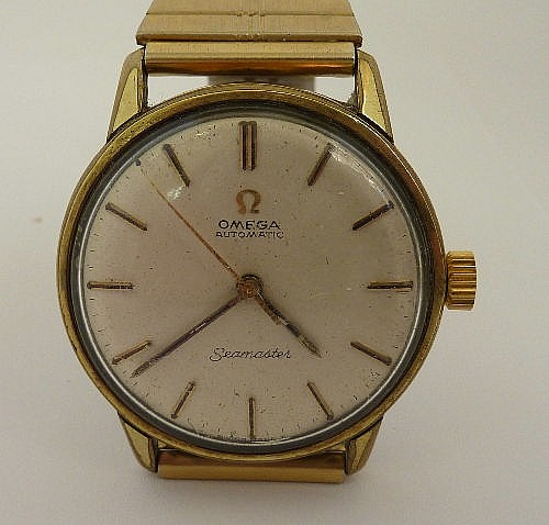 A gentleman's 1960's stainless steel backed Omega