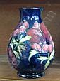 A Moorcroft anemone pattern vase
