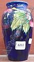 A Moorcroft 'Pansies' vase (19cm high)