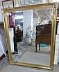A gilt framed bevelled edge mirror
