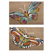 Nerina Embroidered Butterfly Wall Decor - Ast 2