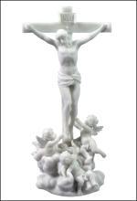 CHERUBS TENDING JESUS ON THE CROSS (MARBLE WHITE COLOR)