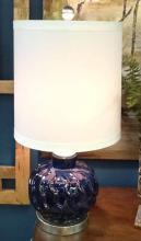 Midnight Blue Wave Bulb Table Lamp