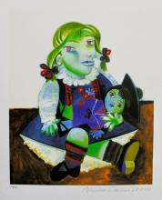 After Pablo Picasso Maya With Doll Estate Signed Limited Edition Small Giclee
