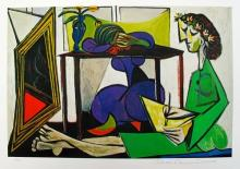 #33 Interior With Girl Drawing After Pablo Picasso Estate Signed Giclee