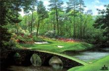 The 12th at Augusta by Larry Dyke