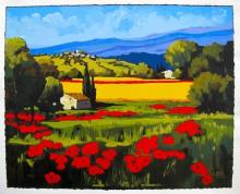Joanny Summer Poppies Hand Signed Limited Edition Giclee