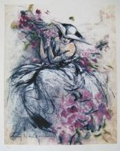 After Louis Icart Lavender Lady Limited Edition Giclee