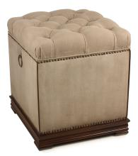 Canvas Tufted Small Stool