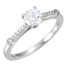 Continuum Silver 1/8 CTW Diamond Semi-Mount Engagement Ring