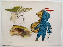 Max Papart A Scottish Girl Ii Limited Edition Hand Signed Etching