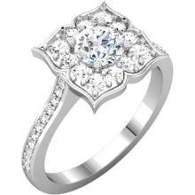 14kt White 7/8 CTW Diamond Engagement Ring