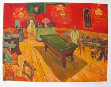 Vincent Van Gogh The Night Cafe, Rec. Room Estate Signed Limited Edition Giclee