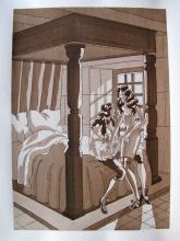 Jean Gradassi Memoirs Of Cardinal Dubois 1950 Color Illustration Limited Edition #23