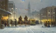 Snowy Tracks by G. Harvey