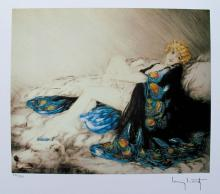 Louis Icart Silk Robe Facsimile Signed Limited Edition Giclee Small