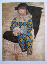 Paul As A Harlequin Pablo Picasso Estate Signed Giclee