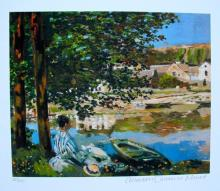Claude Monet The River Estate Signed & Stamped Limited Edition Small Giclee