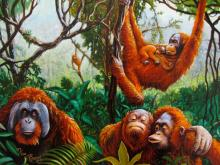 Charles Lynn Bragg Orangutans Hand Signed Limited Edition Giclee