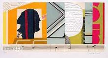 Max Papart Musical Profile Hand Signed Limited Edition Lithograph