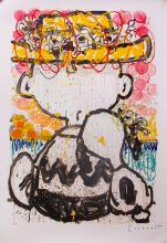 Tom Everhart Mon Ami Hand Signed Lithograph Snoopy Charlie Brown
