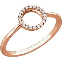 14kt Rose 1/10 CTW Diamond Circle Ring
