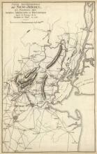 John Marshall - Septentrionale Du New Jersey, Et Positions Des Armees Americaine Et Britannique En 1776