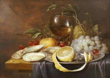 Joris Van Son - A Roemer, A Peeled Half Lemon On A Pewter Plate