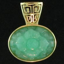 One of a Kind-Natural Green Jade Pendant