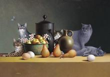 Braldt Bralds - Still Life With Three Eggs And Four Pairs