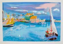Georges Lambert Harbor Limited Edition Hand Signed Lithograph