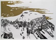 Raymond Moretti Zealots Ascending Masada Hand Signed Limited Edition Lithograph