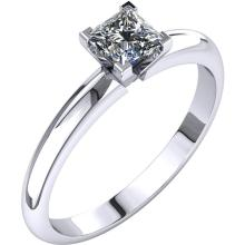 14kt White 3/4 CTW Diamond Princess Solitaire Engagement Ring