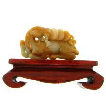 Natural Yellow Jade Statuary