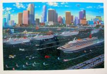 Alexander Chen Miami Cruising Hand Signed Limited Edition Serigraph