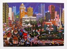 Alexander Chen Union Square San Francisco Hand Signed Limited Edition Lithograph