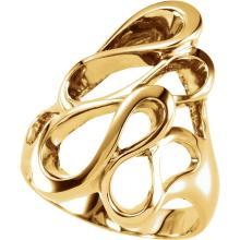 14kt White Ring