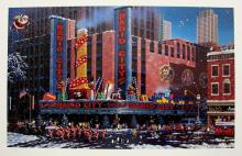Alexander Chen Santa Comes To New York Hand Signed Limited Edition Serigraph