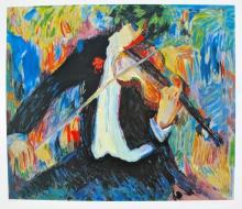 Barbara Wood Violin Hand Signed Limited Edition Serigraph
