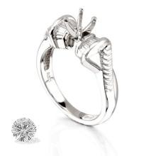 Ring...platinum 9.3 Gram 0.27ct Diamond Si1-si2 G-h