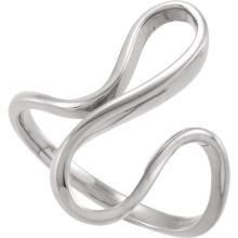 14kt White Freeform Ring