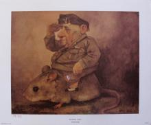 Charles Bragg National Hero Facsimile Signed 1970 Color Lithograph