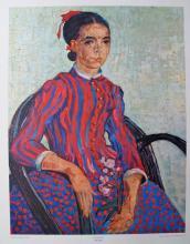 Vincent Van Gogh La Mousme – 1960 Plate Signed Lithograph