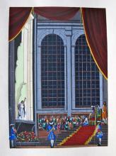 Jean Gradassi Memoirs Of Cardinal Dubois 1950 Color Illustration Limited Edition #02