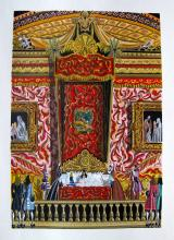 Jean Gradassi Memoirs Of Cardinal Dubois 1950 Color Illustration Limited Edition #16